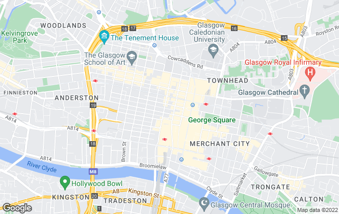 Map for Savills New Homes, Glasgow