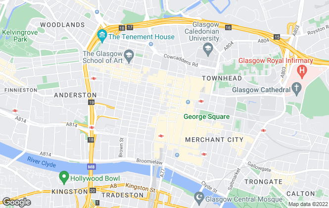 Map for Savills, Glasgow