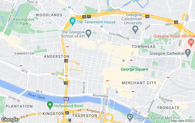Map for DM Hall , Glasgow