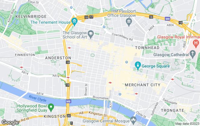 Map for GVA, Glasgow