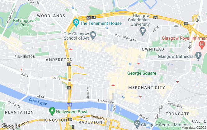 Map for Miller Beckett & Jackson, Glasgow