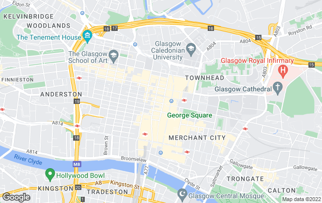 Map for MCINTYRE Property Consultants Ltd , Glasgow