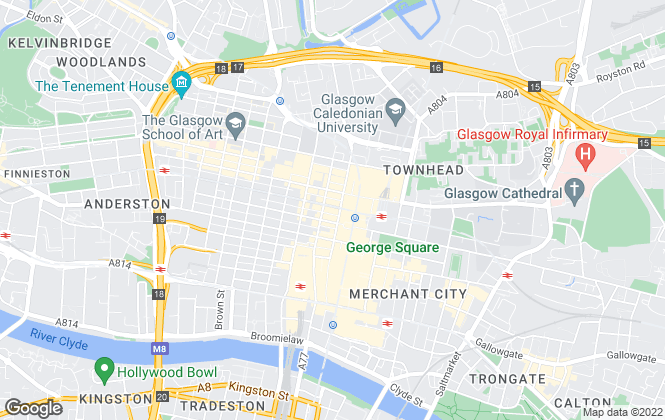 Map for Colliers International Property Consultants Ltd, Glasgow