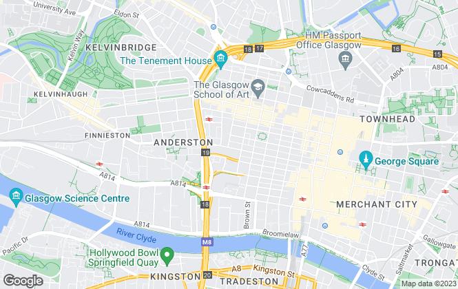 Map for Wright, Johnston & Mackenzie LLP, Glasgow