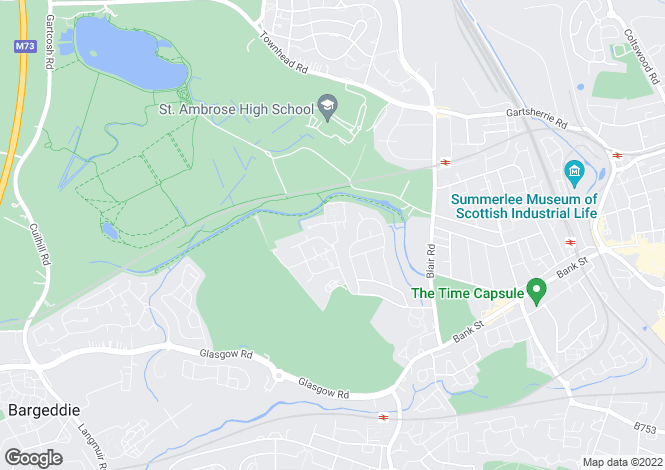 Map for Manor Drive, Drumpellier, Coatbridge