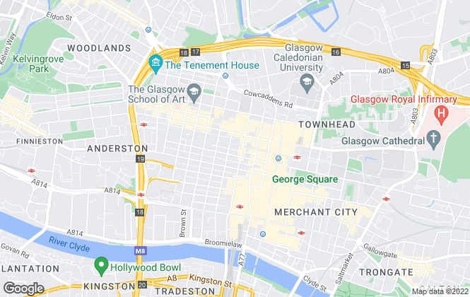 Map for Capital Letters, Glasgow