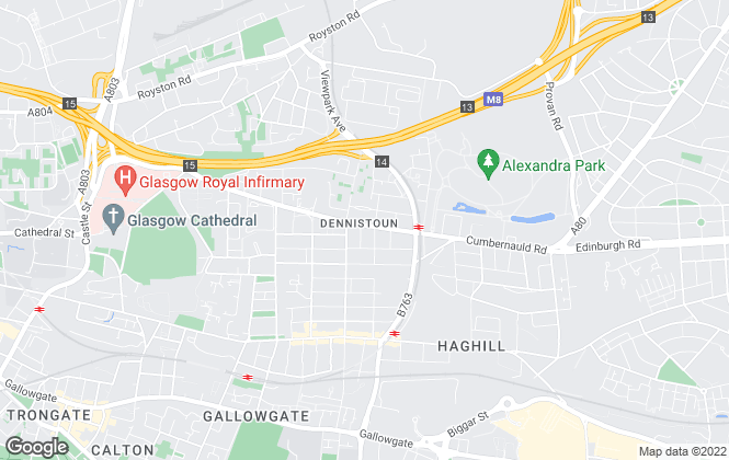 Map for Allen & Harris, Dennistoun Glasgow