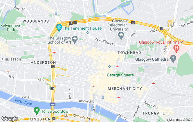 Map for Kite Lettings, Glasgow