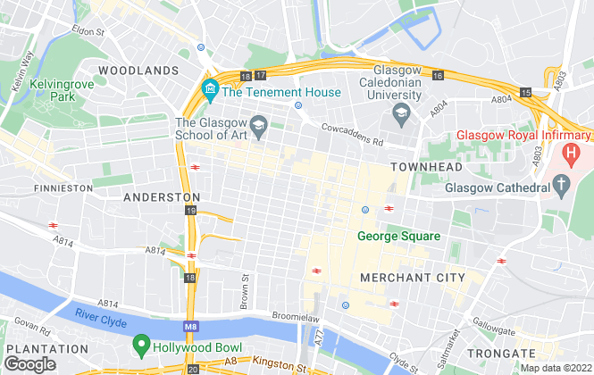 Map for Property Letting Glasgow, Glasgow