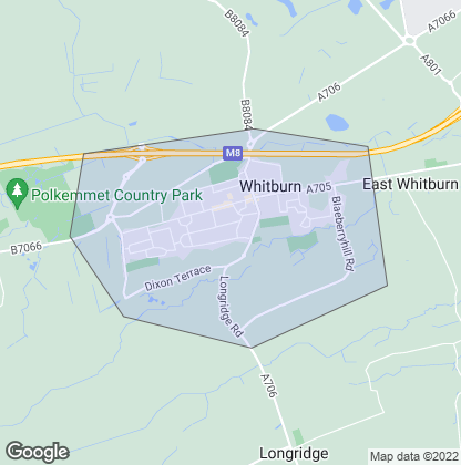 Map of property in Whitburn