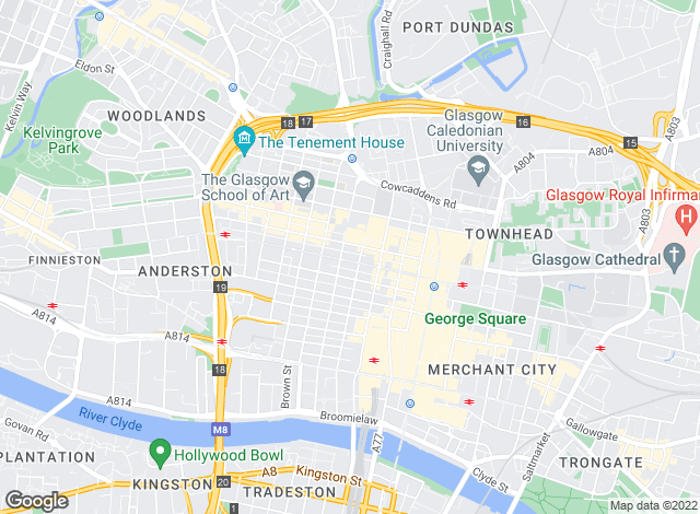 Map for movequick, Scotland