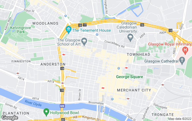 Map for MQ Estate Agents, Glasgow