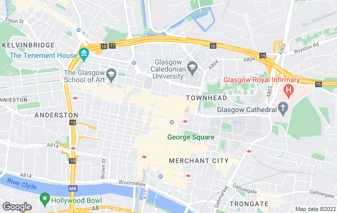 Map for Chalmers Properties, Glasgow