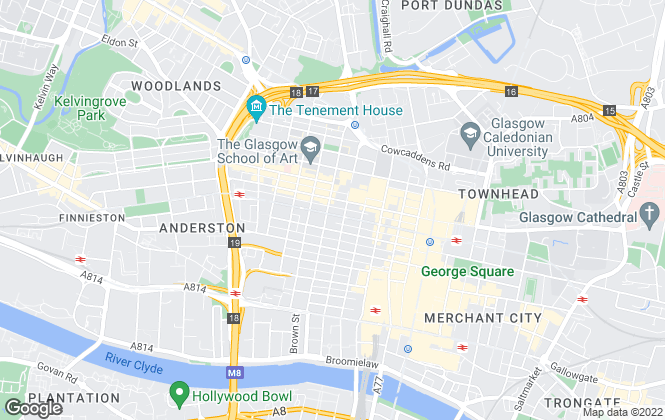 Map for Thomson Property Consultants, Glasgow