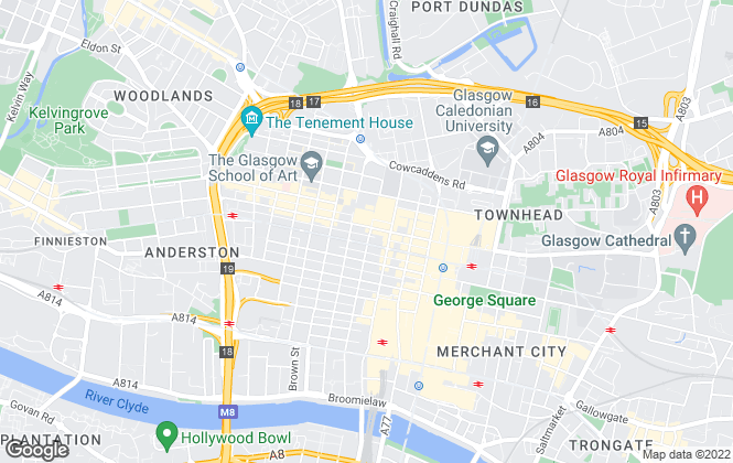 Map for Zing Property, Glasgow