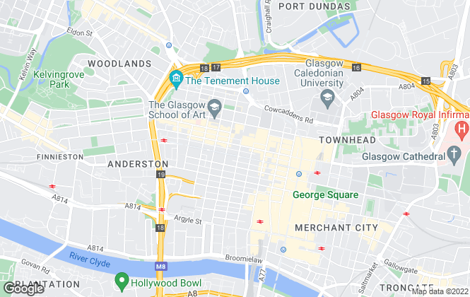 Map for Rettie & Co , Glasgow - Sales