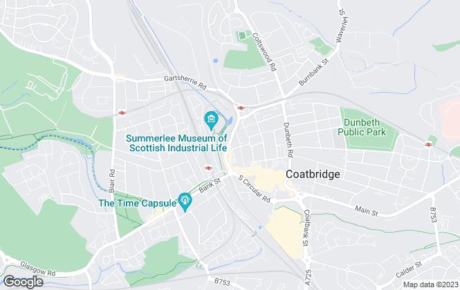 Map for hc2m properties, Coatbridge