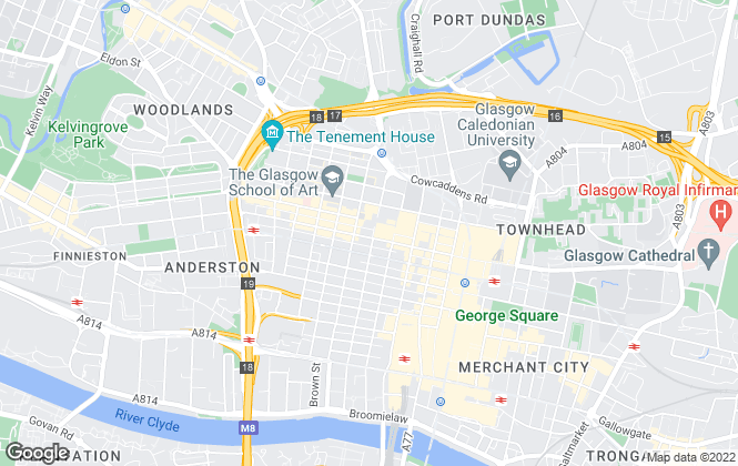 Map for Homes For Good, Glasgow