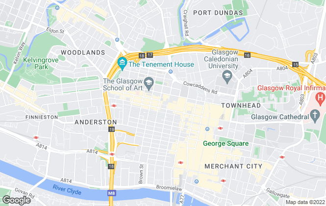 Map for PRP Properties, Glasgow