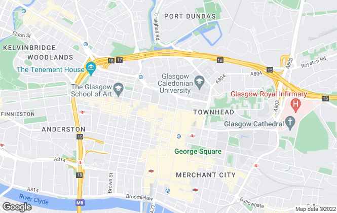 Map for Home Connexions, Central Glasgow