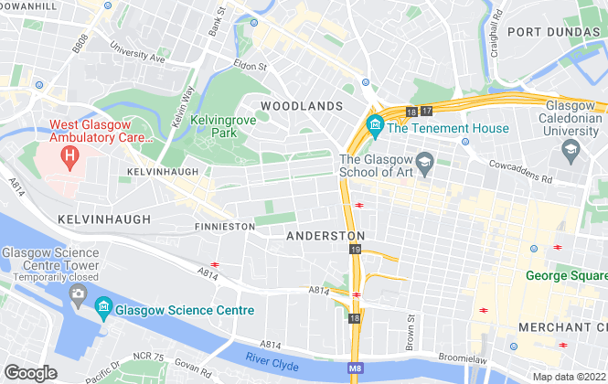 Map for Castle Residential, Glasgow