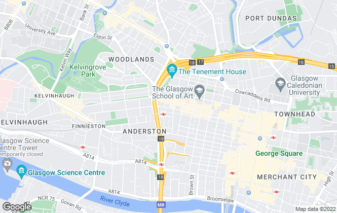 Map for Lemon Property, Glasgow