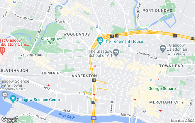 Map for Cityscape Property, Glasgow