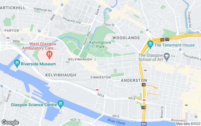 Map for Aris Property, Glasgow