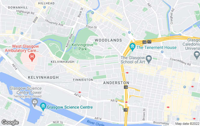 Map for O'Neill Letting, Glasgow