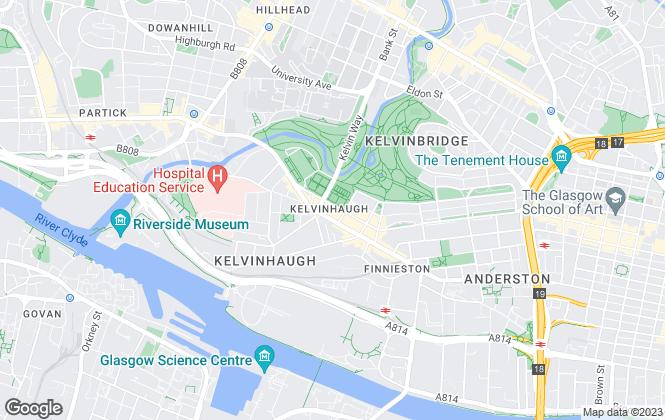 Map for Elliott Estates, Glasgow