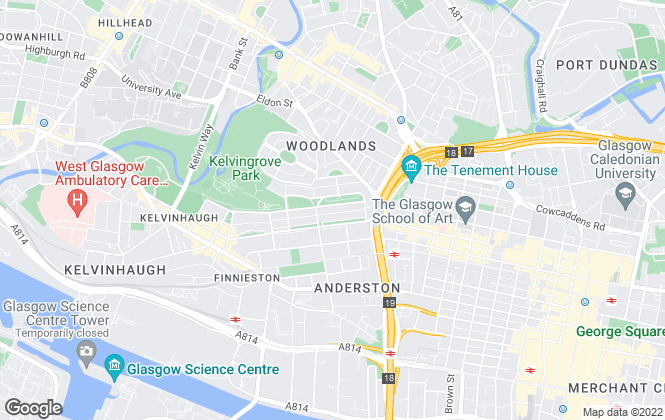 Map for Gardiner Waters Property Management, Glasgow