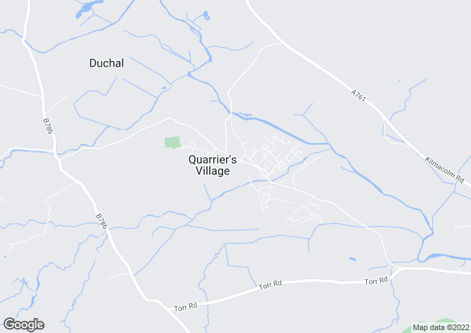 Map for Love Ave, Quarrier's Village, Bridge Of Weir