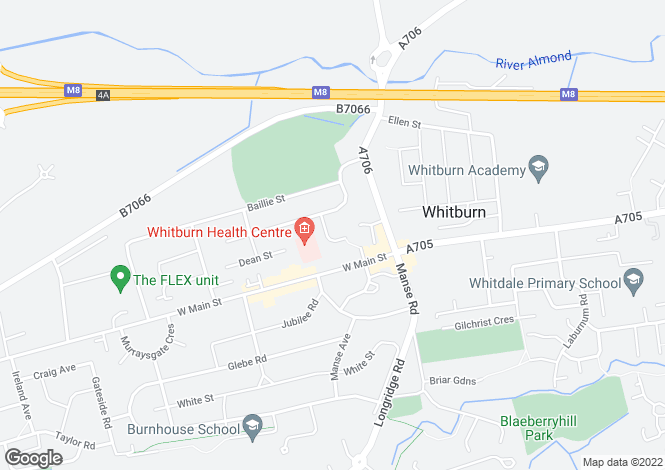 Map for Bank Street, Whitburn, Bathgate, EH47