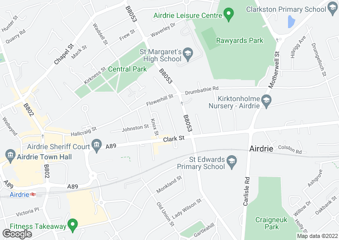 Map for Albert Place, Airdrie, North Lanarkshire