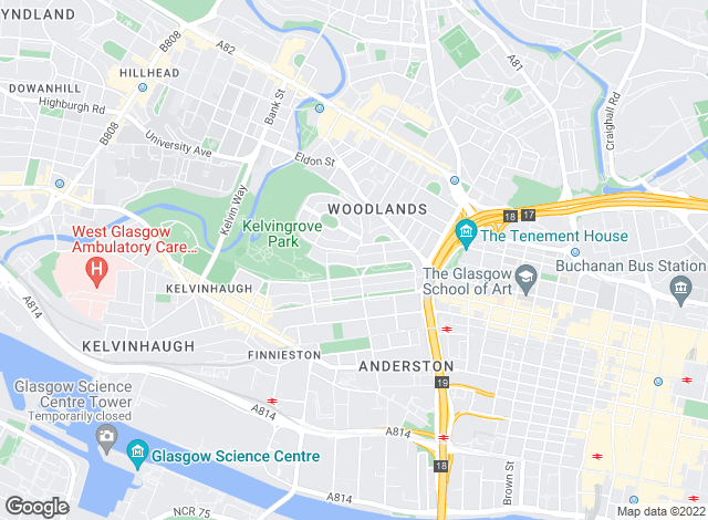 Map for Core Property Management, Glasgow