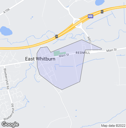 Map of property in East Whitburn