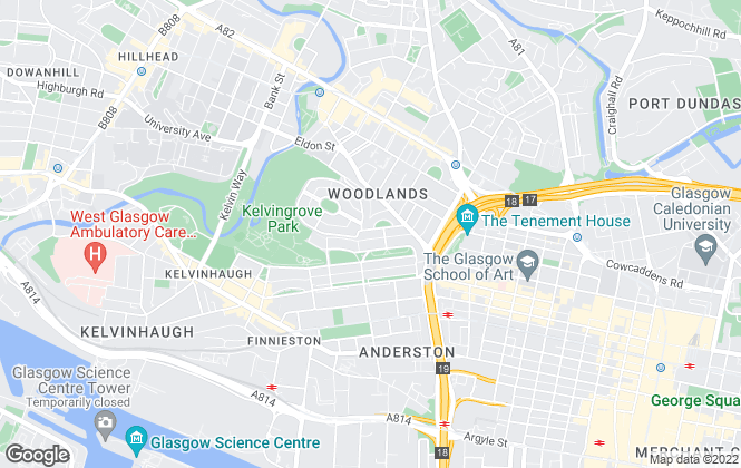 Map for Zone Letting, Glasgow