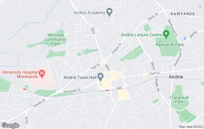 Map for Abode Estate Agency, Airdrie