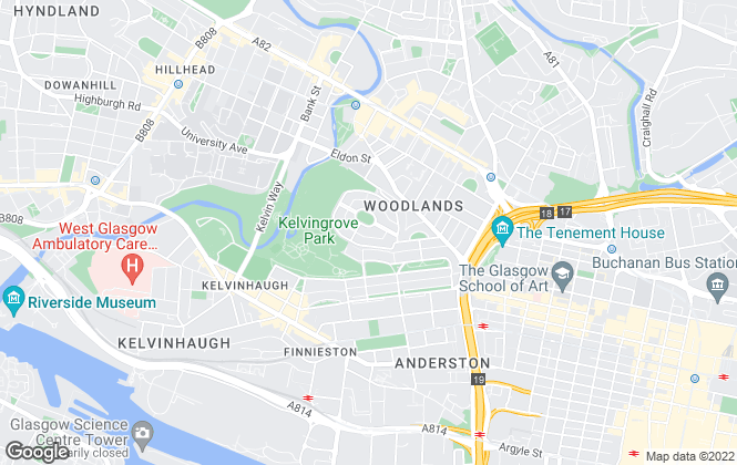 Map for KPM Residential, Glasgow
