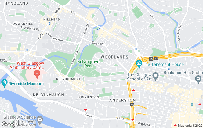Map for KPM Residential, Glasgow
