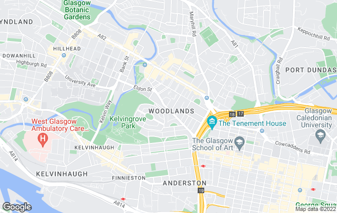 Map for Martin & Co, Glasgow West End - Lettings & Sales