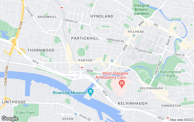 Map for Archibald Sharp, Glasgow