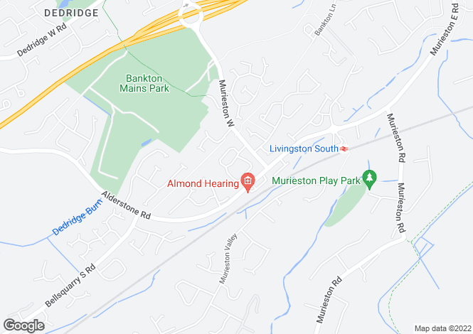 Map for Bankton Way, Livingston, West Lothian