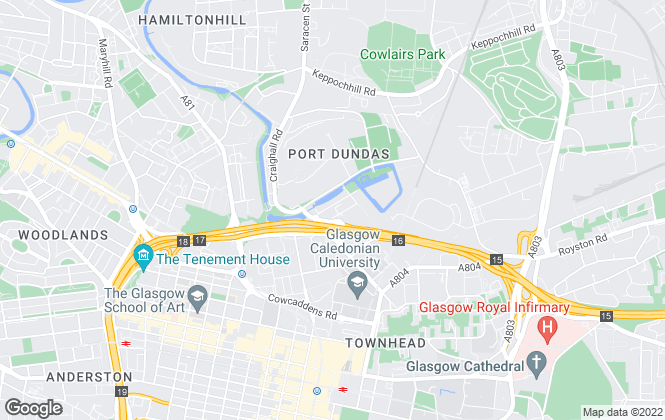 Map for Ethical Lettings, Glasgow