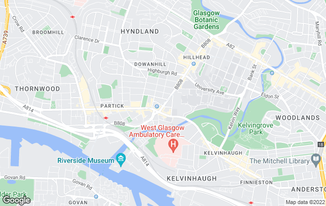 Map for Moving Estate Agents, Glasgow