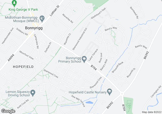 Map for Argyll End at Hopefield View, Off Burnbrae Road,