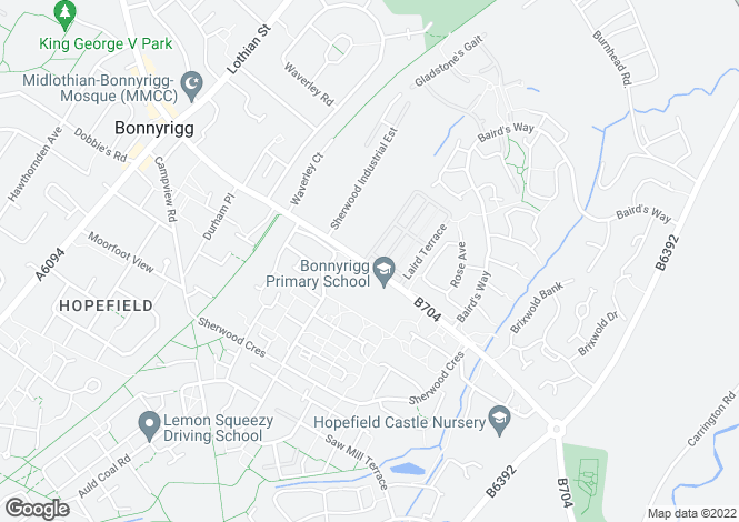 Map for Laurieston. at Hopefield View, Off Burnbrae Road,