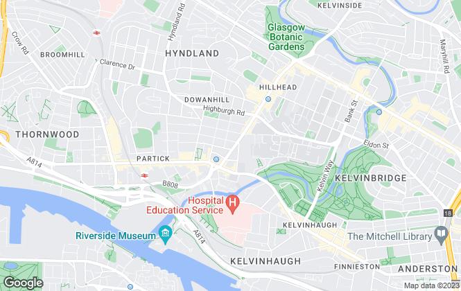 Map for Ross & Liddell, Glasgow
