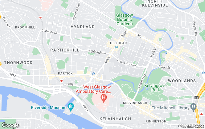 Map for Rettie & Co , Glasgow West End