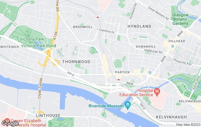 Map for MSM Hart Smith, Glasgow